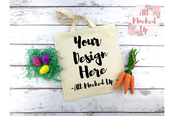Liberty Bags 8502 Canvas Tote Bag Mock Up Easter Theme 2/19