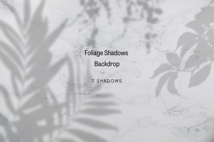 Foliage Shadows Overlays Backdrop, Greenery Floral Drop, PNG