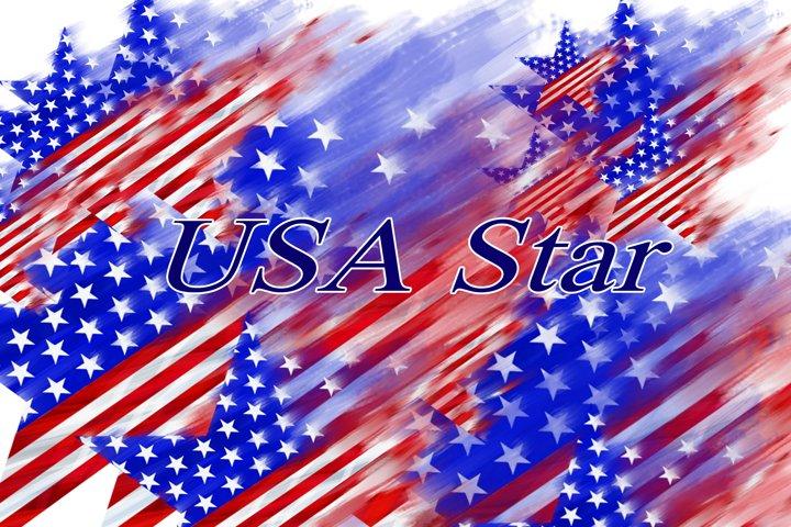 USA Star, USA Clipart, Patriotic Clipart, USA flag Clipart