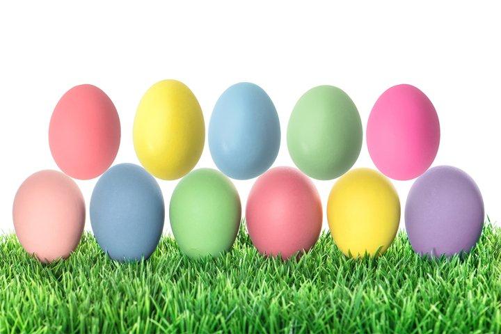 Easter eggs mock up Easter egg mockup
