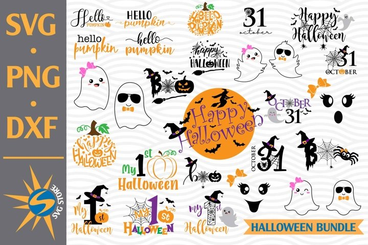 Halloween Bundle Design SVG, PNG, DXF Digital Files Include