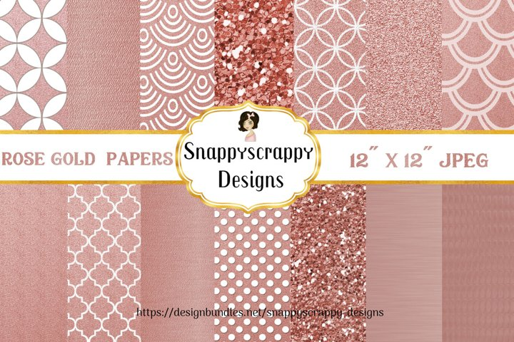 Rose Gold Background Papers