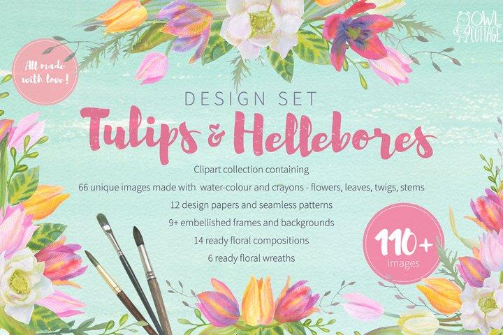 Floral Design Pack watercolor & pastel