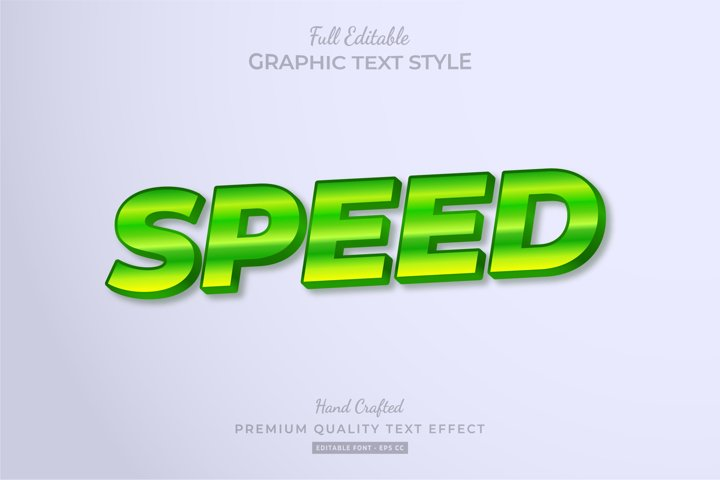 Speed Green Editable Text Style Effect Premium
