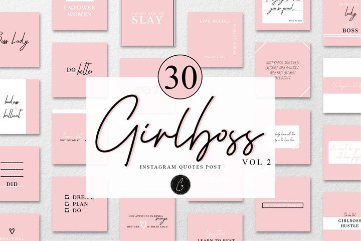 Girlboss Quotes Instagram Posts Vol 2
