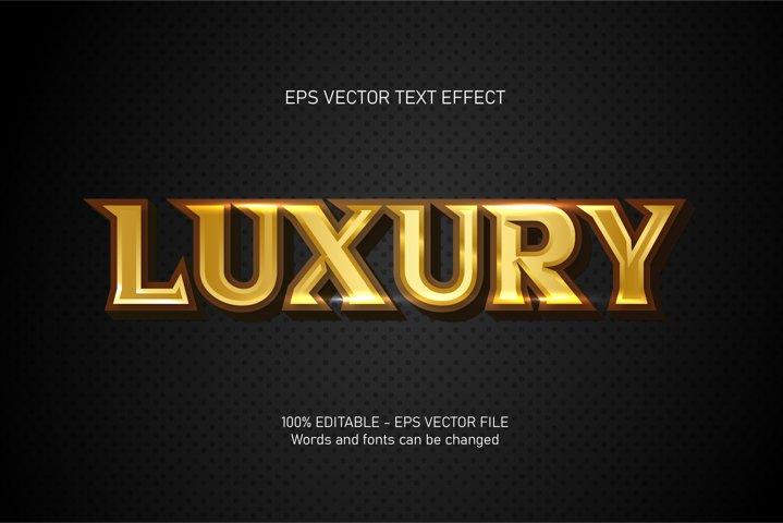 Luxury text, 3d editable text effect