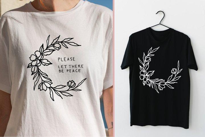 Sublimation florals designs T-shirt