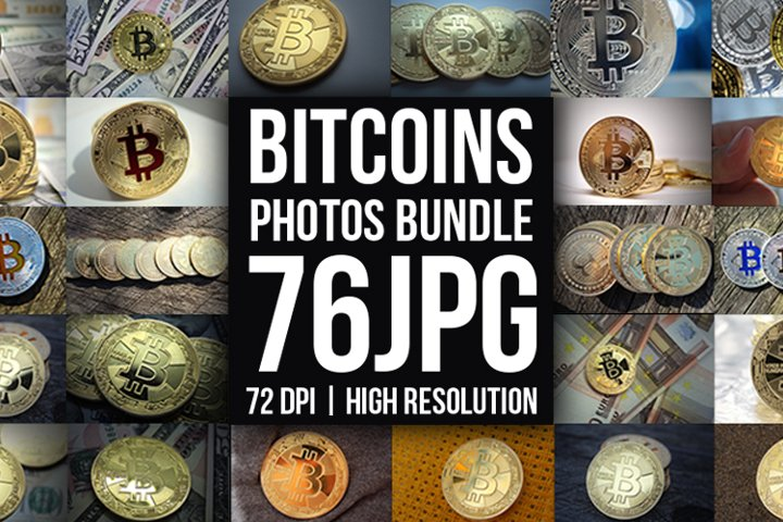 Bitcoins Coins Photos Bundle