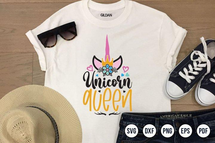 Crown Unicorn SVG, Unicorn SVG, Unicorn Queen