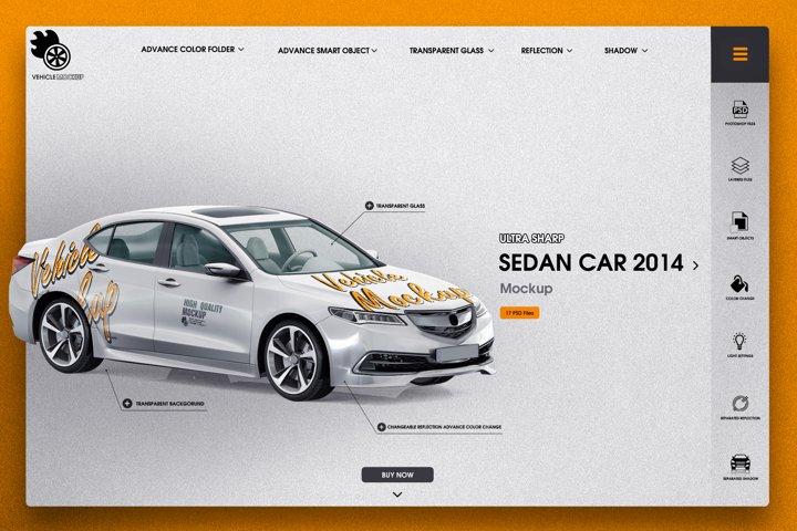 Sedan Car 2014 Mockup
