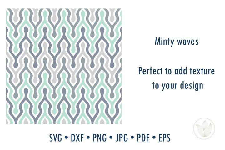 Minty waves ripple chevron texture pattern svg cut file
