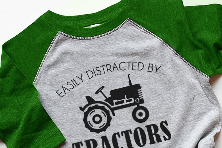 Easily Distracted by Tractors SVG