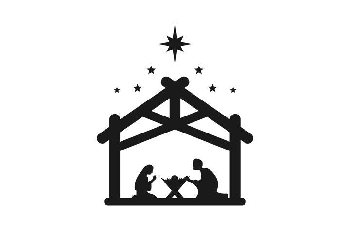 Jesus Christ was born symbol. Merry Christmas