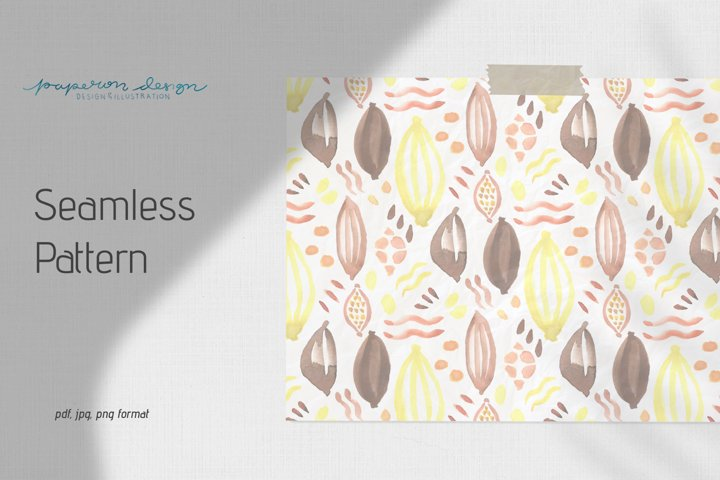 Abstract Cacao Seamless Pattern