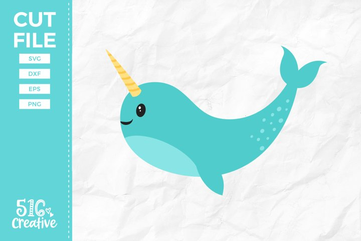 Narwhal SVG DXF EPS PNG
