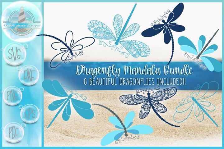 Dragonfly Mandala Zentangle Bundle | Dragonfly SVG