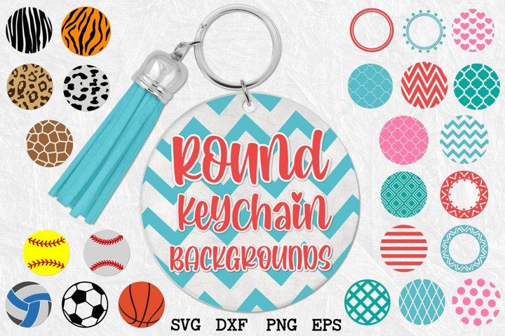 Keychain Round Patterns, Pattern Circles Bundle