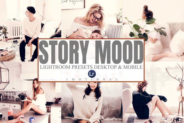5 Story Mood Mobile and Desktop Lightroom Presets