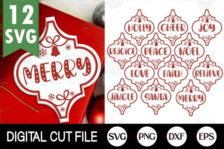 2020, Arabesque Christmas Ornament SVG Bundle, Ornament SET