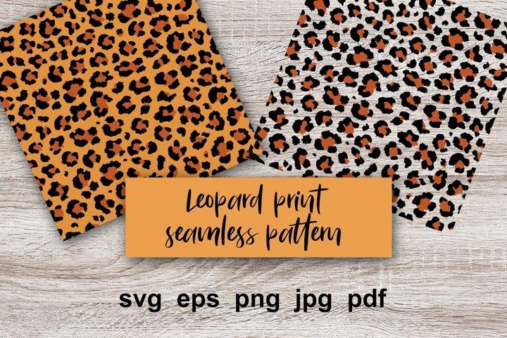 Leopard print Digital Paper, seamless pattern.