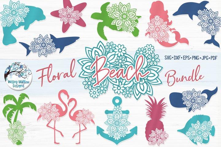 Floral Beach Bundle | Summer Floral Animal SVG Cut Files