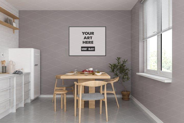 Horizontal frame mockup - movable & scalable frame