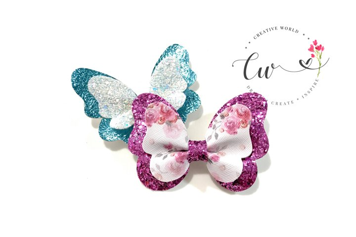 2 in 1 Butterfly Pinch Bow Digital Template | Pinch Bow