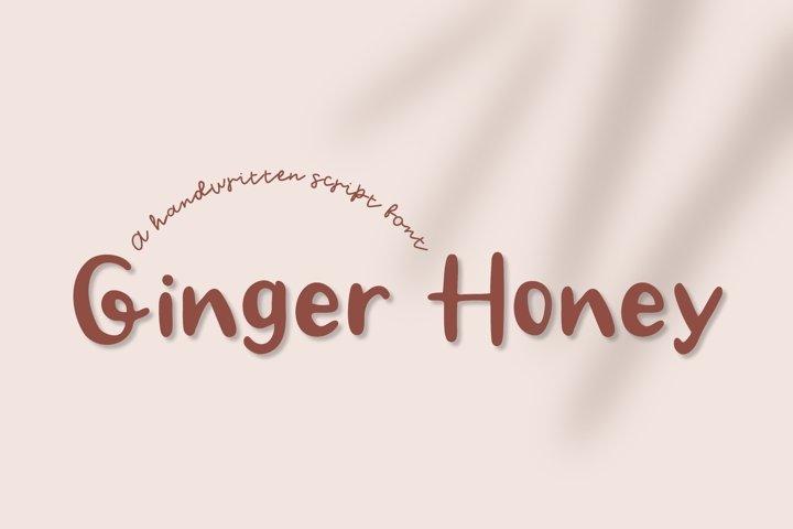 Ginger Honey -Handwritten Script font