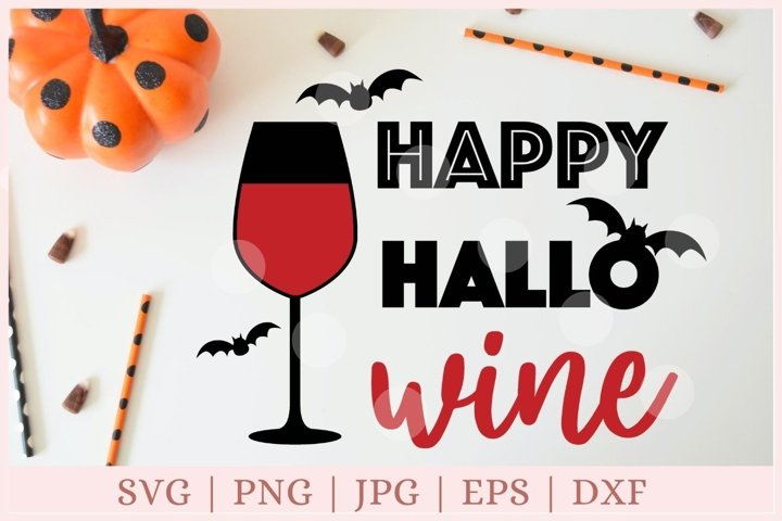 Happy Hallo wine svg, Halloween svg, Wine svg