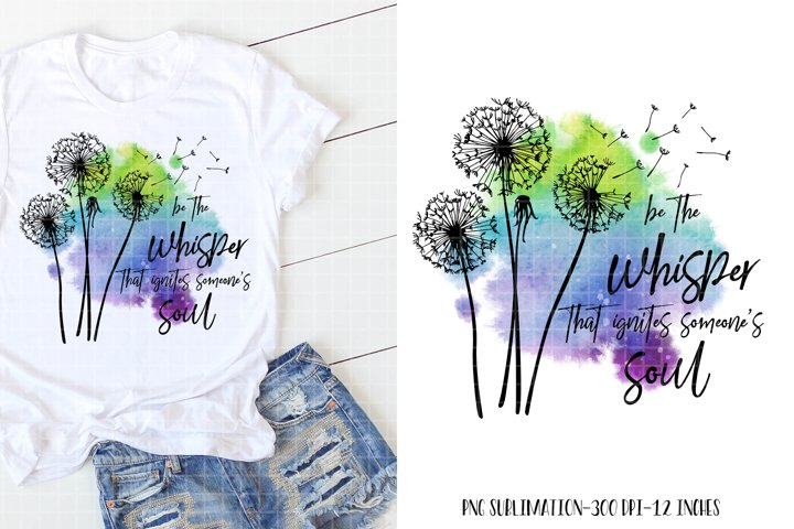 Dandelion Sublimation Design