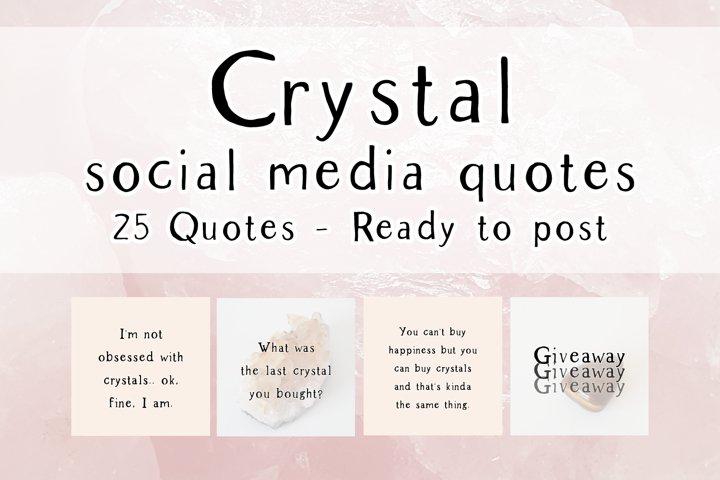 25 x Peach Crystal Social Media Quotes