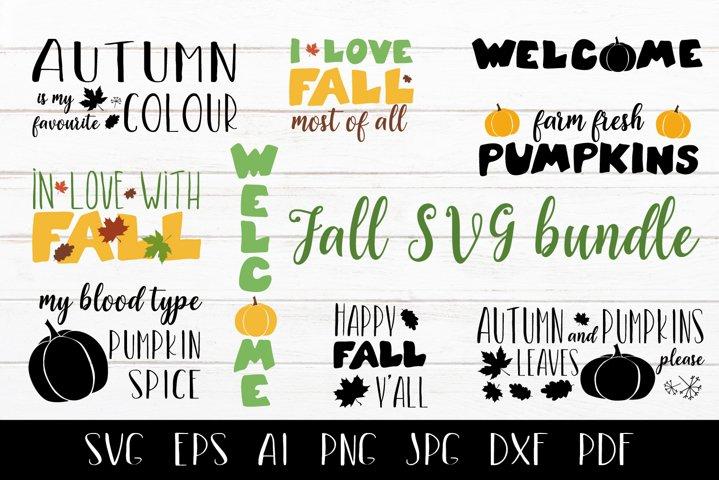 Fall SVG bundle. Autumn quotes SVG.
