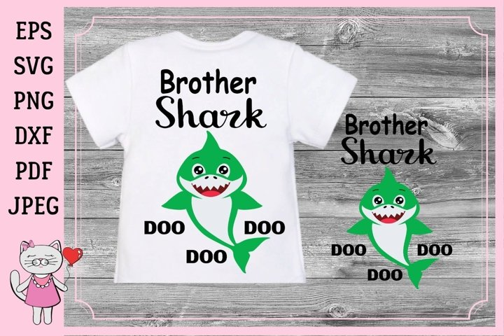 Brother shark Svg files Family shirt