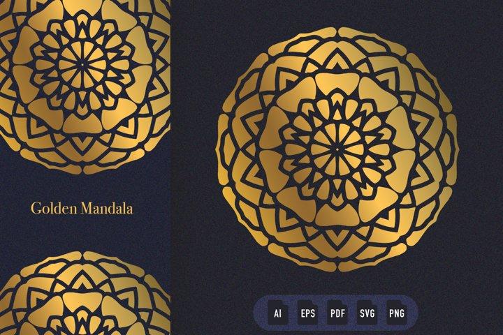 Golden Mandala Art 05