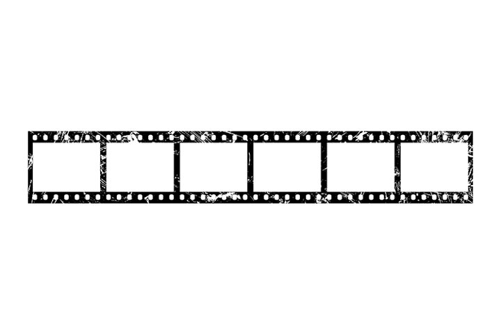 Grunge 35 MM Film with Six Slides