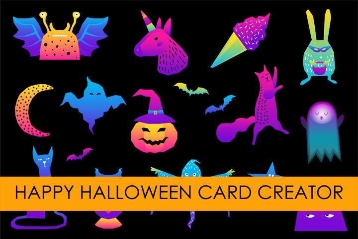 Halloween clipart. Happy halloween character. Digital paper