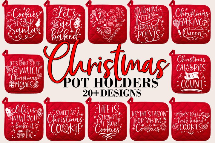 Christmas Baking Pot Holder Bundle SVG Design Bundle
