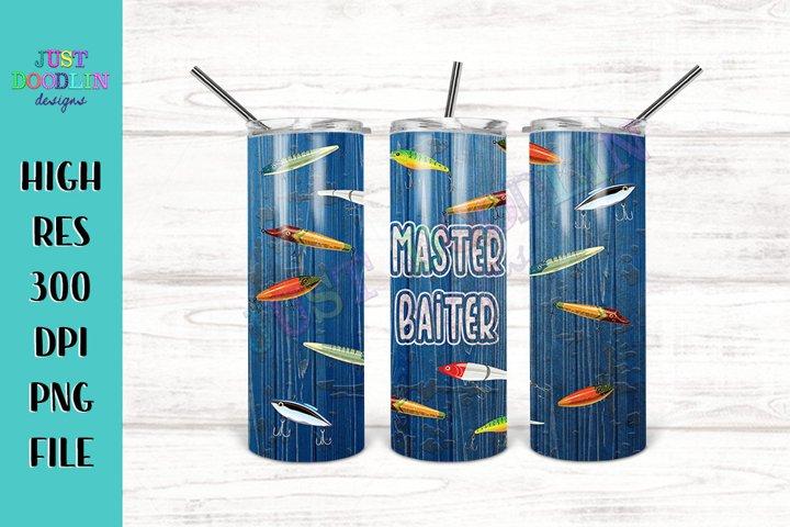 Master Baiter 20 oz tumbler design | Fishing Sublimation