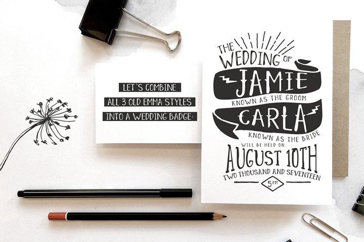 Old Emma - Free Font of The Week Design1