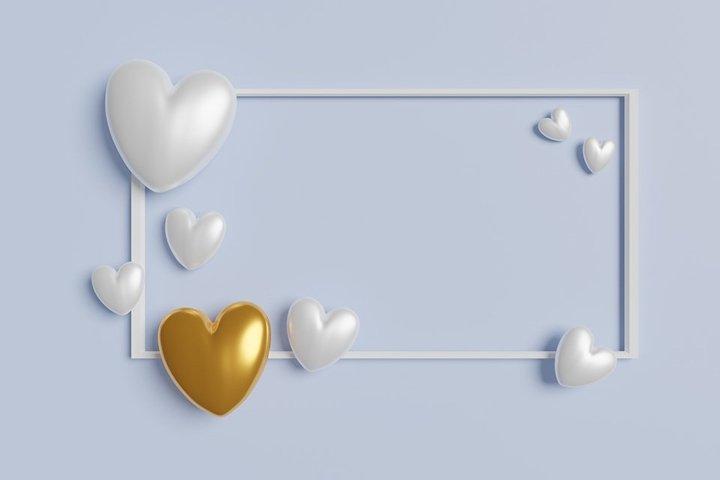 Valentines day mockup. Wedding mock up. Wedding photo frame