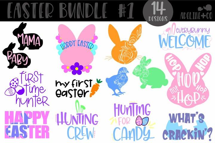 Easter bundle #1, 14 designs, SVG, PNG, DXF, Easter