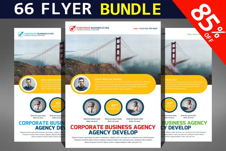 66 Corporates Flyers Bundle