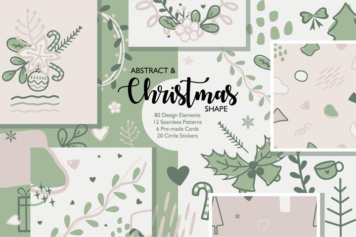 Abstract & Christmas Shape