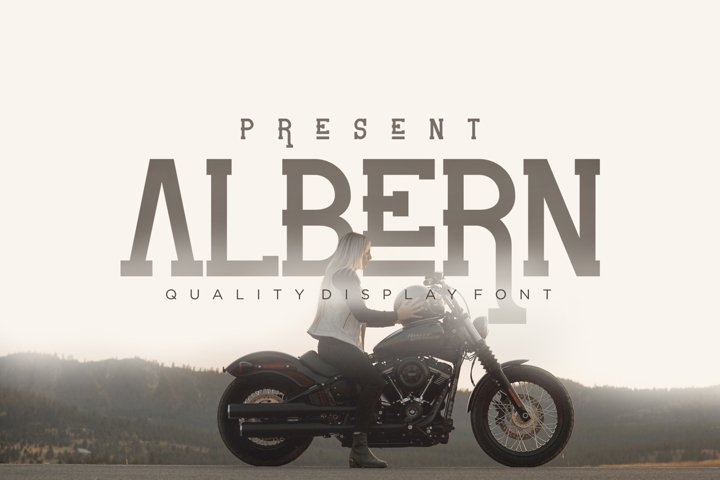 Albern - Slab Serif Display Font