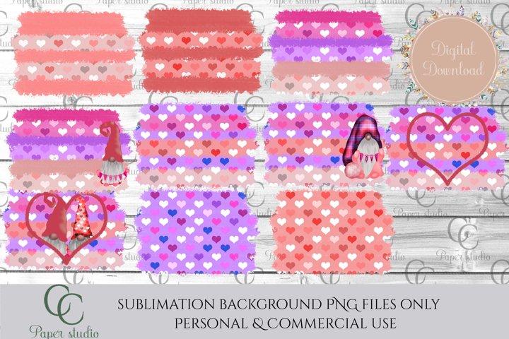 Sublimation background bundle -Valentines gnome