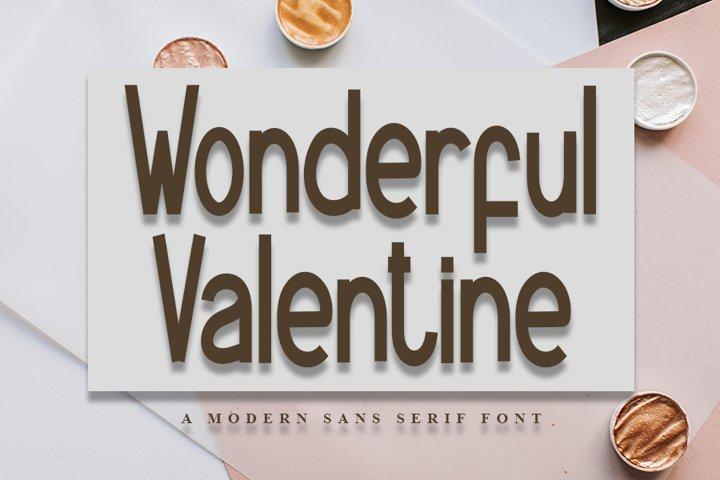 Wonderful Valentine - A modern Sans Serif Font
