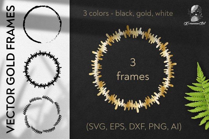 Vector wreaths silhouettes SVG clipart - Cut File