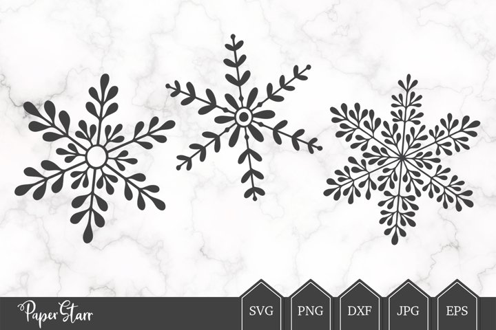 Snow Flake SVG Cut File for Crafters