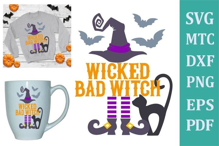 Wicked Bad Witch Halloween Design #02 Craft SVG Cut File