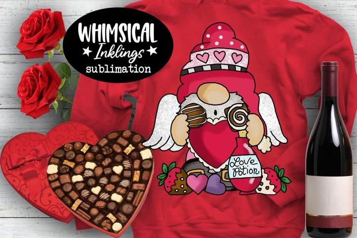 Valentine Gnome Sublimation Clipart